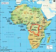 Afrika-kart
